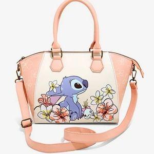 Loungefly Disney Lilo & Stitch Flowers Satchel Bag